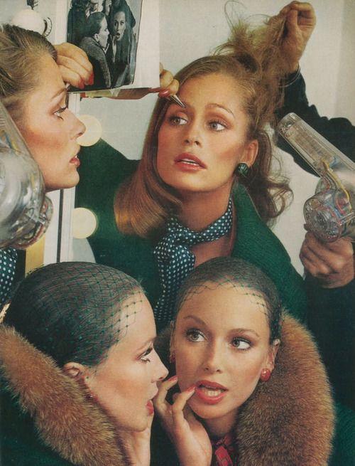 "Vogue US July 1973  ""The Big Preview""  Models: Lauren Hutton & Karen Graham  Photographer: Richard Avedon."