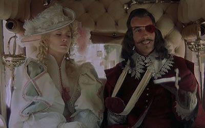 Faye Dunaway and Christopher Lee in The Three Musketeers (1973)