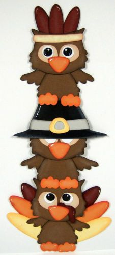 TOCG Thanksgiving Owls Paper Piecing Embellishment Scrappin with Mom