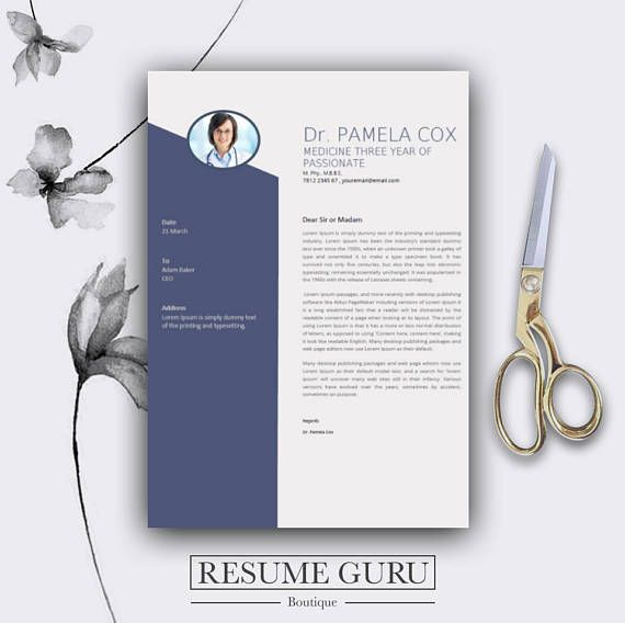 Teacher Resume Template U0026 Cover Letter, Cv, Professional Modern Creative  Resume Template, MS Word For Mac + Pc, US Letter + Best CV