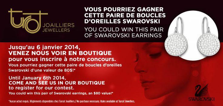 Concours en boutique! Courez la chance de gagner cette paire de boucles d'oreilles. @Swarovski #mode #Montréal    In-store contest! Get the chance to win this pair of earrings. #Swarovski #fashion #Montreal