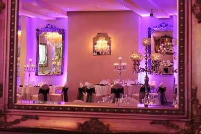 Its amazing how much flood lights can transform the decor of a room!