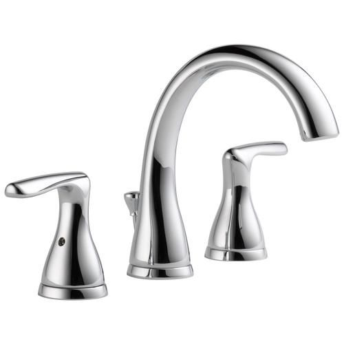 Delta Dulcet Chrome 2 Handle Widespread Watersense Bathroom Sink