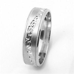 Sterling Silver Pattern Wedding Rings