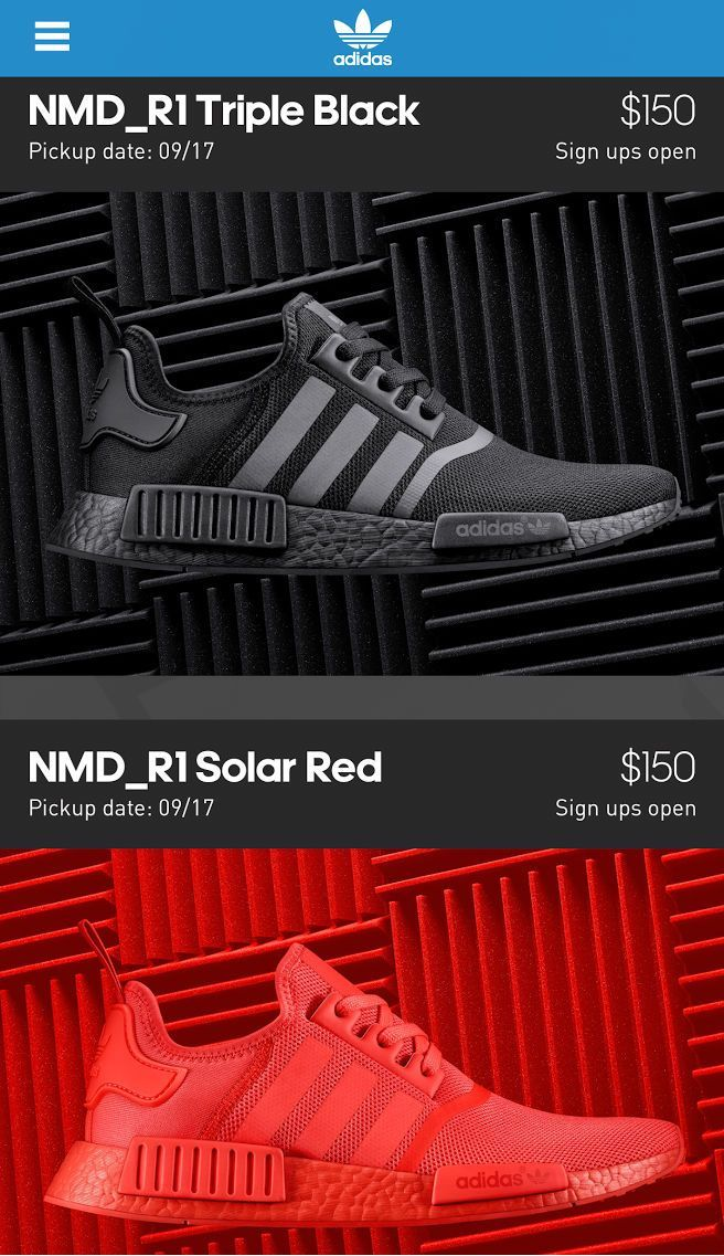 new style 9d983 f8b10 adidas NMD Black Solar Red on the Confirmed App