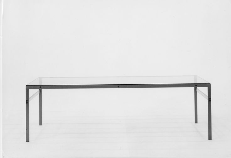 The bo-551 table in all its minimalist perfection. Designed by Preben Fabricius and Jørgen Kastholm.