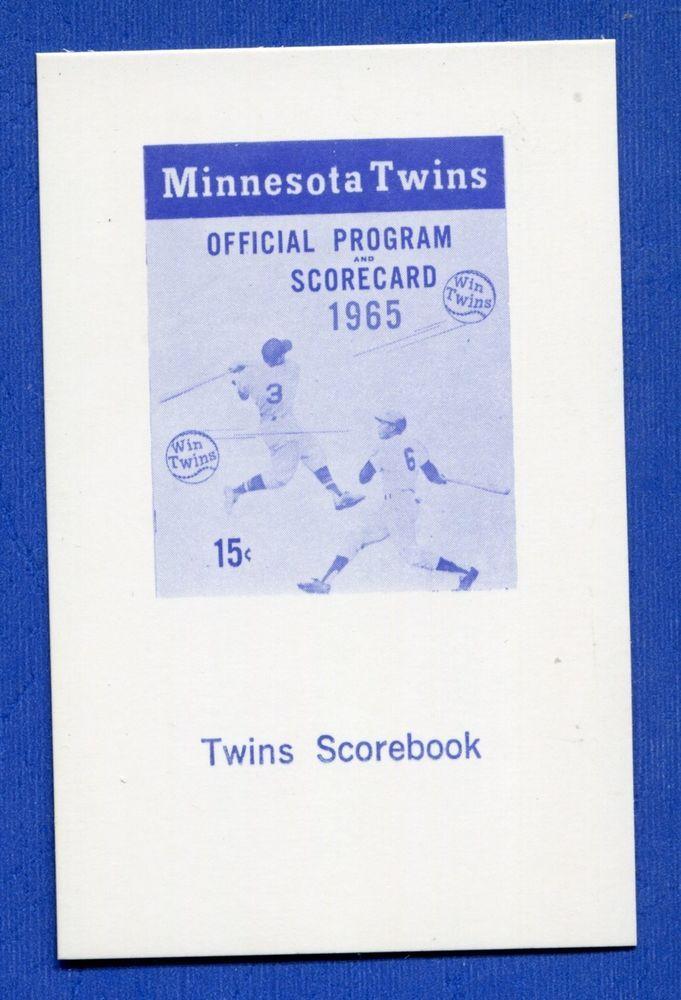 1965 Trade Bloc Minnesota Twins Card - SCOREBOOK