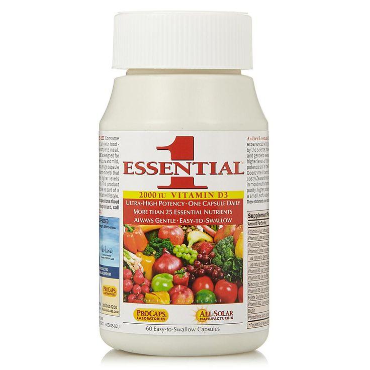 Andrew Lessman Essential-1 with Vitamin D3-2000 - 60 Capsules