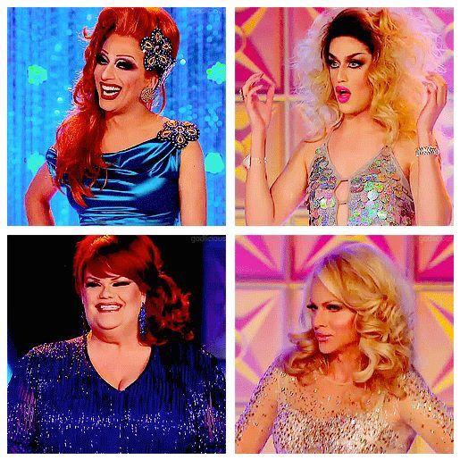Bianca Del Rio, Adore Delano, Darienne Lake, and Courtney Act, RPDR Season 6 #Top4