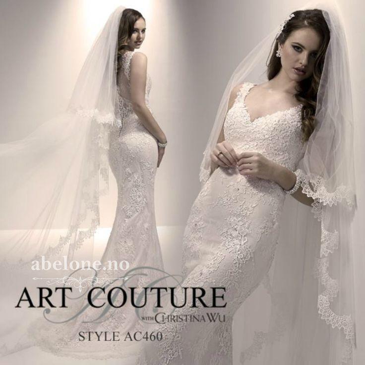 Blonde havfrue brudekjole Art Coutoure AC460 En fantastisk vakker brudekjole du ikke finner maken til. Utrolig nydelig blonde og snitt på denne elegante brudekjolen fra Art Coutoure. Utsøkt blonde...