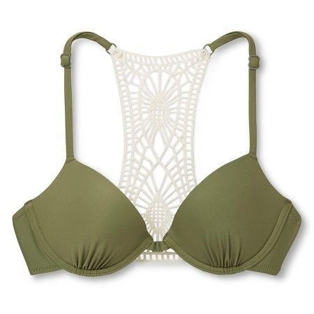 Women's Crochet Back Push Up Bikini Top - Xhilaration™ : Target