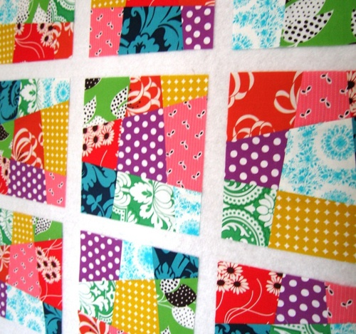How to make a crazy nine-patch quilt block