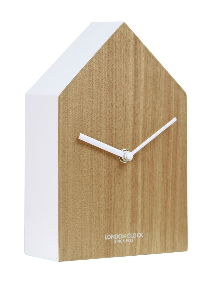 A confident departure from the norm, the Hus is a definite high point in the London Clock Company's UK designed Oslo Range. Its composite wood case and painted surround evoke the prosaic child's drawing of a house, reinforced by the building block feel of the shape - yet counterpointed by the sophisticated lack of markers on the plain wooden face. A sparse yet strongly designed announcement of panache for the modern mantel, the Hus measures 20cm in height, 13cm in width and has a depth of…