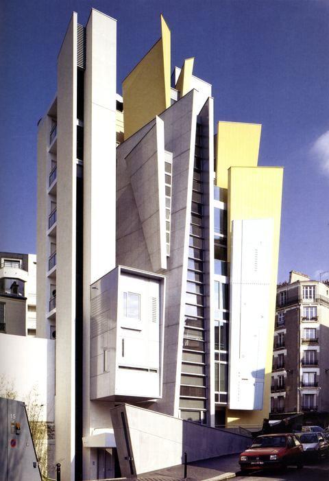 DAY - Apartment building rue Pelleport, Paris France (1999) | Frédéric Borel architecte