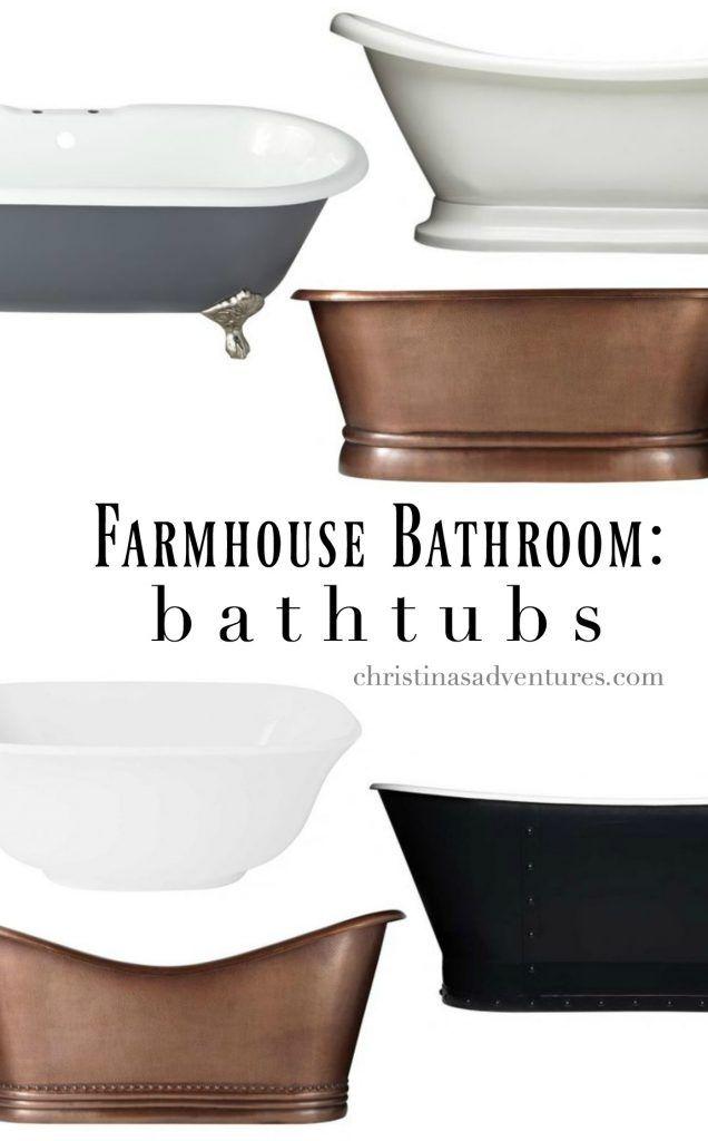 The best freestanding bathtubs for your farmhouse bathroom design