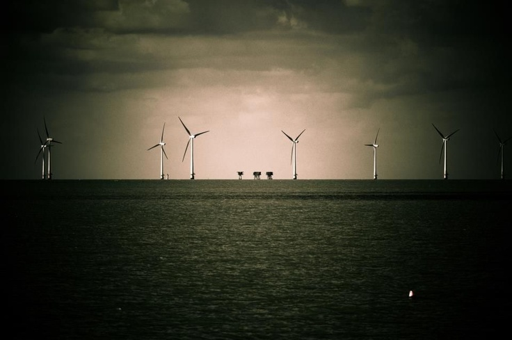 Moody forts and turbines.