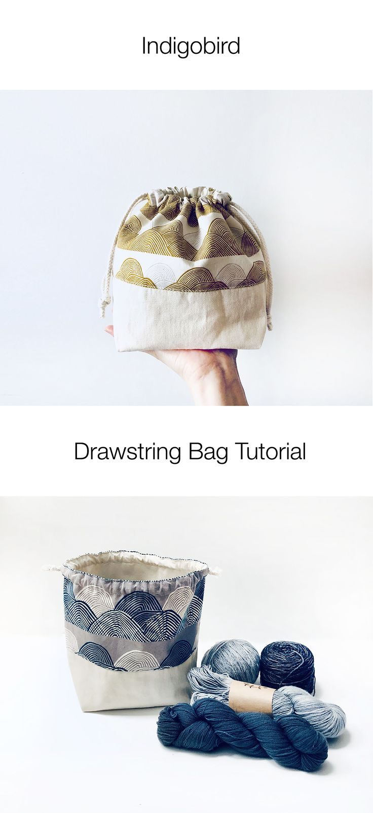 Bundle Dyed And Screen Printed Botanical Project Bag Projectbag Knitting