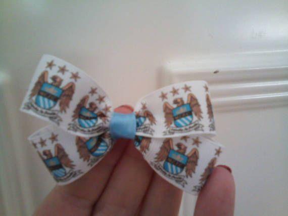 Manchester City football logo jojo style bow by TouchofsparkleStore on Etsy £3.50 & £1.00 signed #ManCity