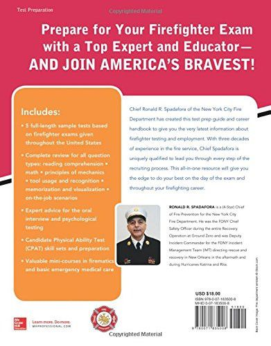 McGraw-Hill Education Firefighter Exam, 2nd Edition (Test Prep)