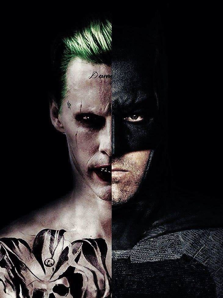 Awesome Fan Art for Ben Affleck's Standalone Batman Movie featuring Ben Affleck and Jared Leto as Bruce Wayne / Batman and The Joker