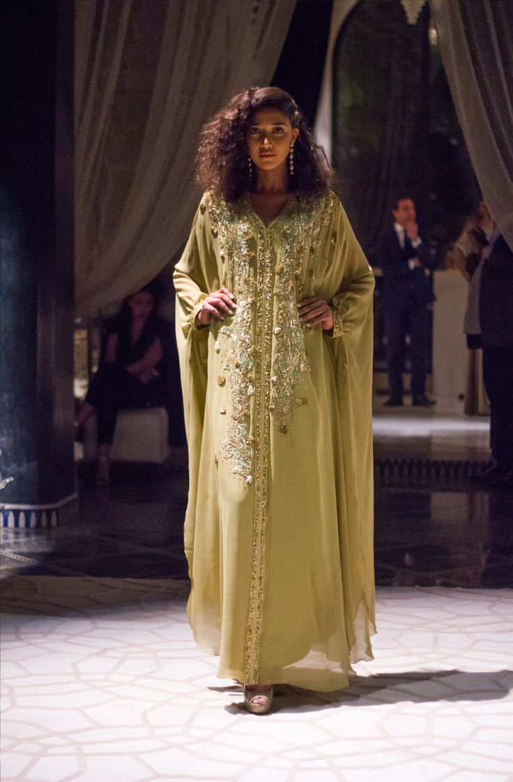Culinary Week opened with a Caftan Fashion Show and shall close with one, showcasing this exquisite Moroccan dress #RoyalMansour #Morocco #Caftan #Dress #Fashion #Beauty #Tradition #Jewels #FashionShow #Design