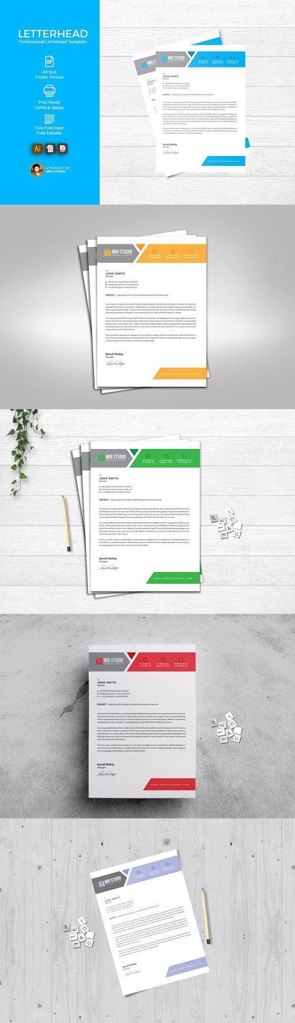 Simple Letterhead Template. Stationery Templates