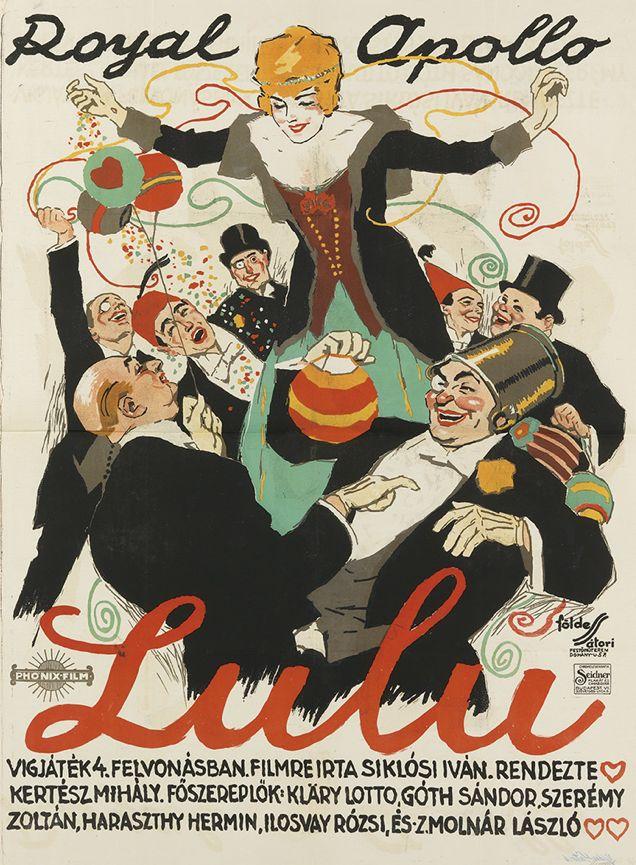 Poster by Imre Foldes (1881-1948) & Lipot Satori (1899-1943), Royal Apollo / Lulu, Budapest.