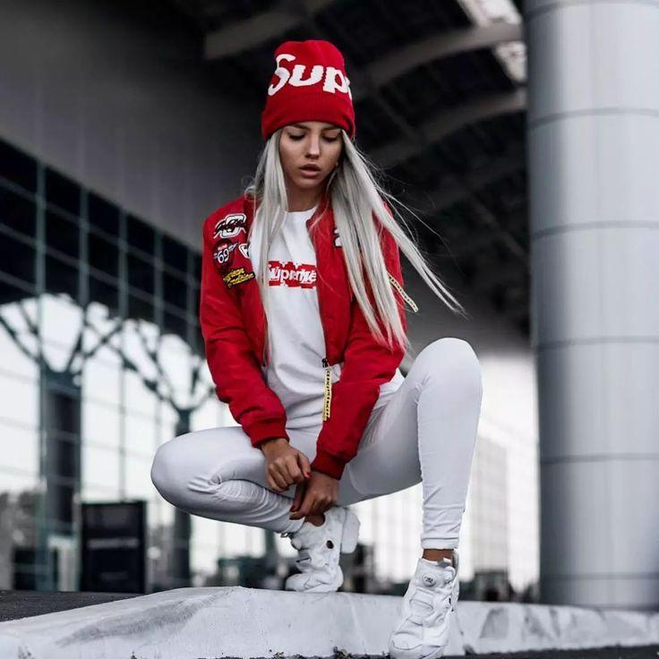 Image result for hypebeast supreme girl girl street
