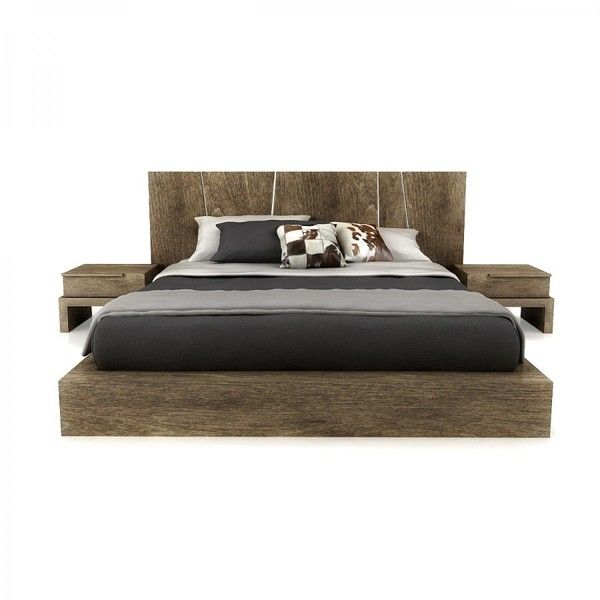 Real Wood Platform Bed Cb