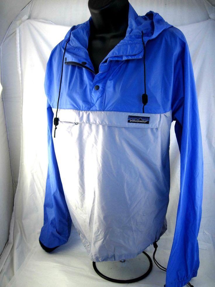 Vtg Patagonia womens windbreaker jacket rain coat extra small XS purple grey #Patagonia #Windbreaker