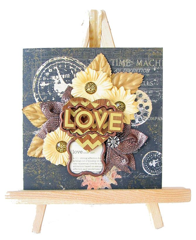 Expressing from my Heart and Soul: Love- Card- Gold Foil Trend