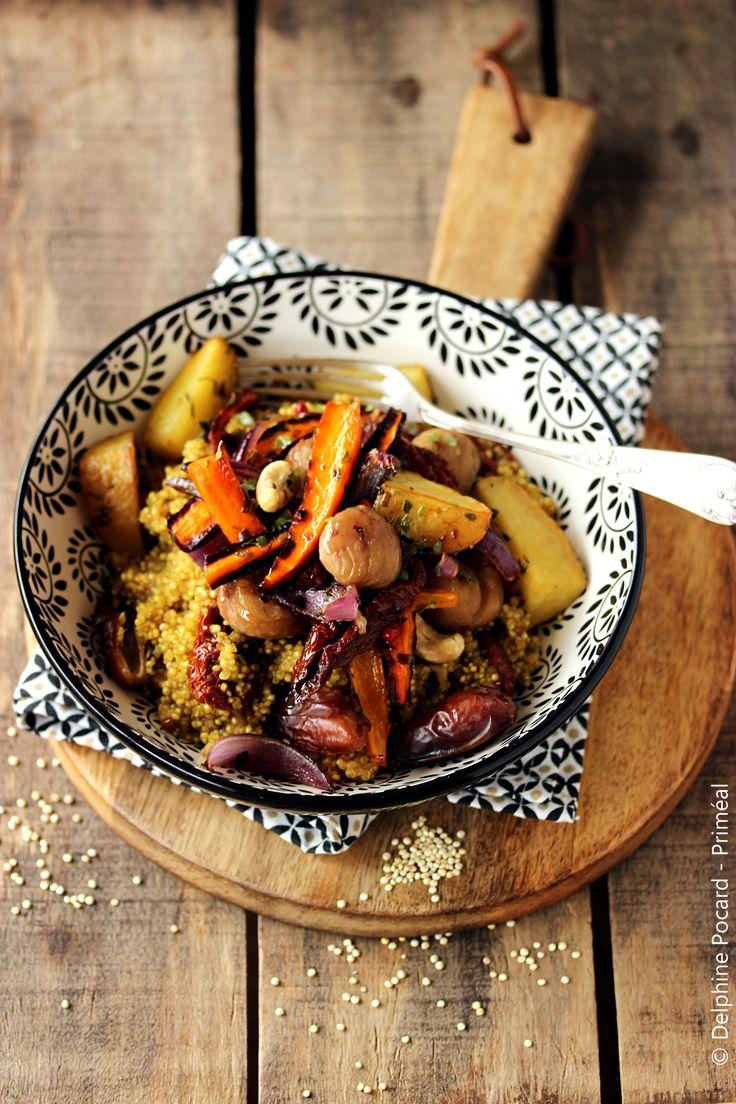 Recette végétarienne – Le quinoa se glisse ici dans un plat complet de type ta…