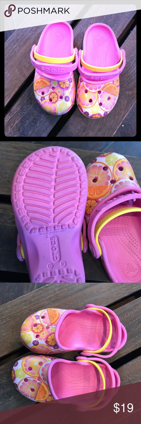 Girls crocks Cute toddler girl shoes, summer colors, new without box, never worn CROCS Shoes Water Shoes