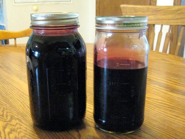 Homemade Mulberry Syrup Recipe - Ingredients: mulberries and granulated sugar.  Equipment: a strainer or colander and cheesecloth (read below), or a jelly bag (purchased from a canning supply aisle or make your own like I did), bowl to hold the juice, jars for storage.
