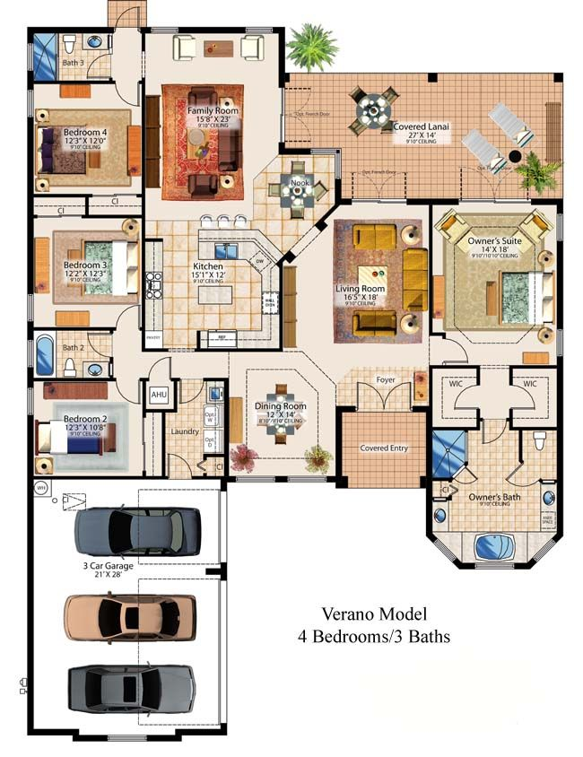 286 Best Images About Floor Plans On Pinterest | House Plans