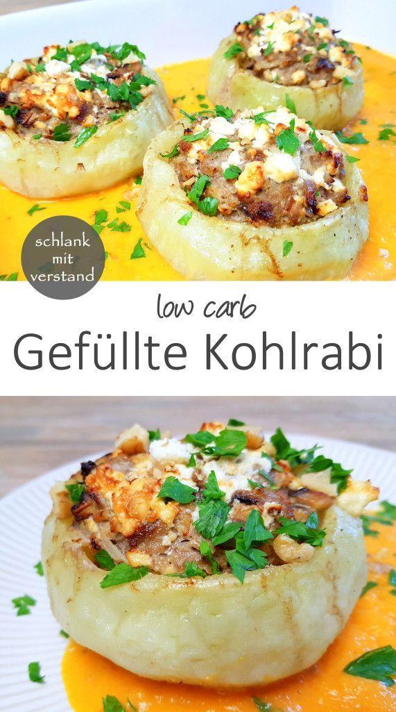 kohlenhydratarmes Kohlrabi-Rezept für ein köstliches Mittag- oder Abendessen. P …   – Gesund abnehmen