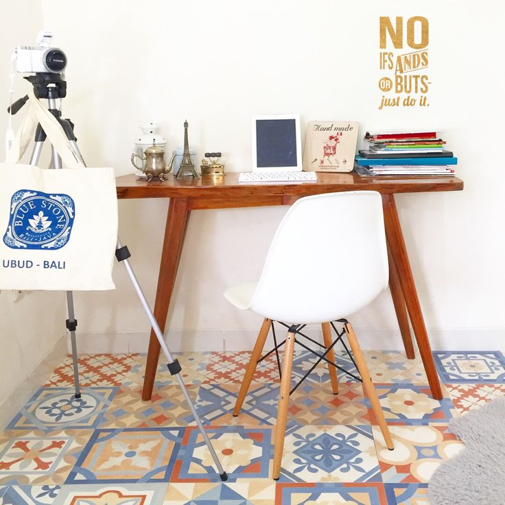 Cement tiles for working space