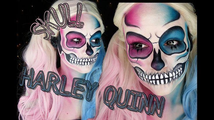 HARLEY QUINN SKULL MAKEUP TUTORIAL | Halloween Tutorial 2016