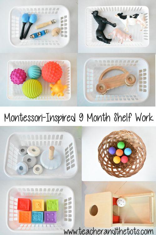 Montessori-Inspired Shelf Activities at 9 Months