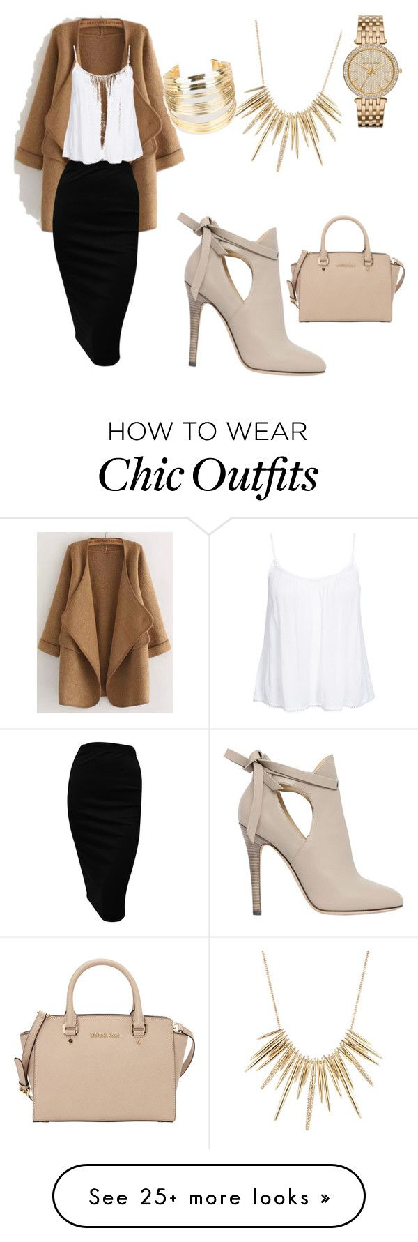 """Chic and Comfortable"" by jleonard0730 on Polyvore featuring WithChic, Jimmy Choo, New Look, Alexis Bittar and MICHAEL Michael Kors"