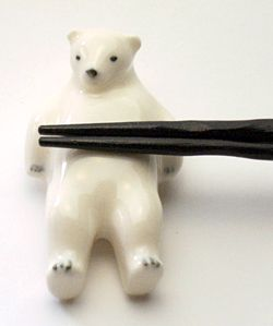 polar bear chopstick rest