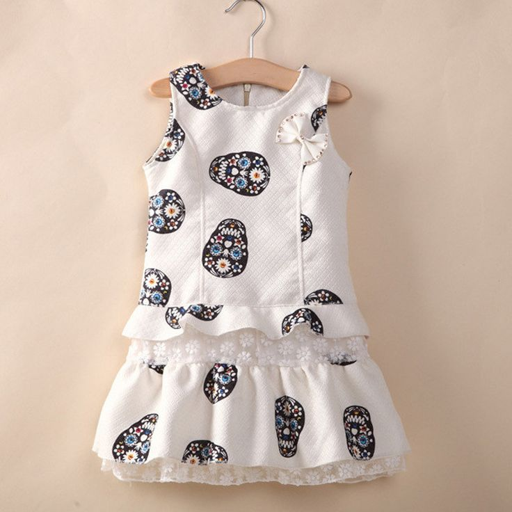 Little Girls Skull pattern Dresses FREE SHIPPING!!!