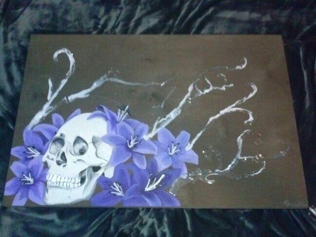 """24x26"""" wood panel. Acrylic"""