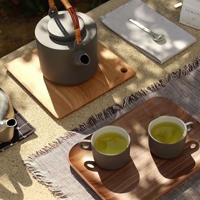 Enjoy a hot cup of tea with the Botra Tea Set. This collection includes a teapot, mug, creamer, and sugar jar. #EQ3SS18