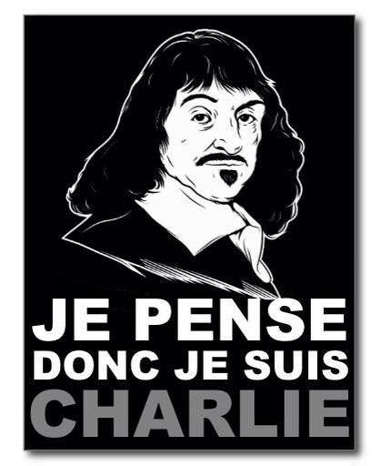 """""""Je pense donc je suis Charlie"""". Excellent !"""