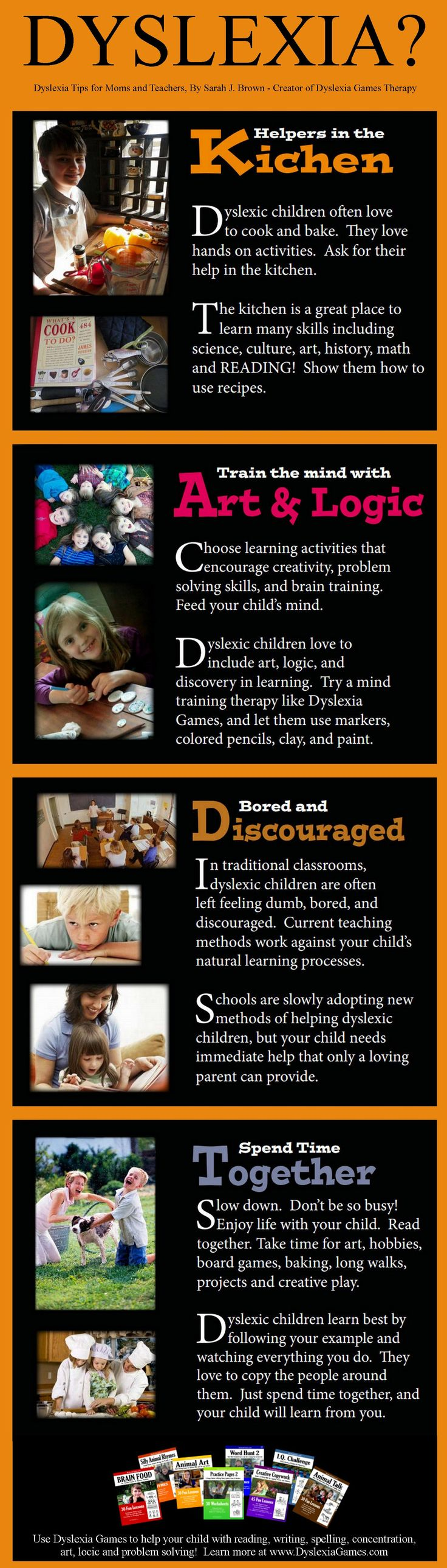 Dyslexia Tips for Moms and Teachers (Infograph)