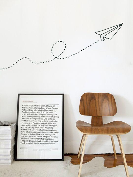 Mini Paper Dart - Wall Sticker by Vinylize Wall Deco