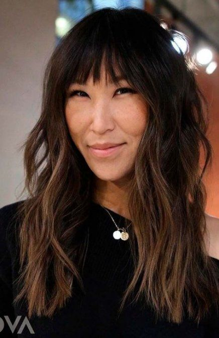 37+ Trendy hair long styles cuts straight fringes