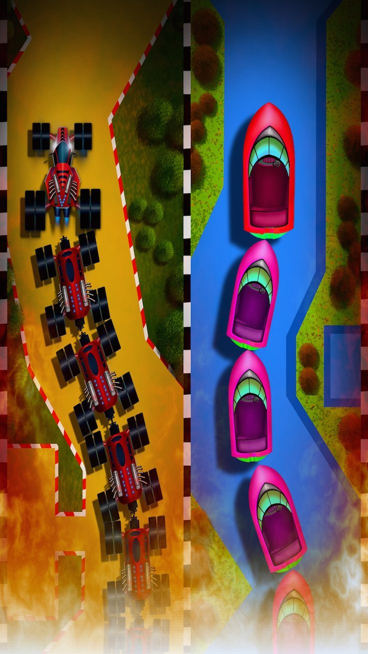 Tough game but very easy to play, one handed game play, its really addictive. Race through the Track without hitting the side walls. Collect parts to make your vehicle stunning. 1: Store to unlock new characters 2: Store to unlock New Backgrounds and Tracks 3: HD with 64 bit support 4: One Hand game play