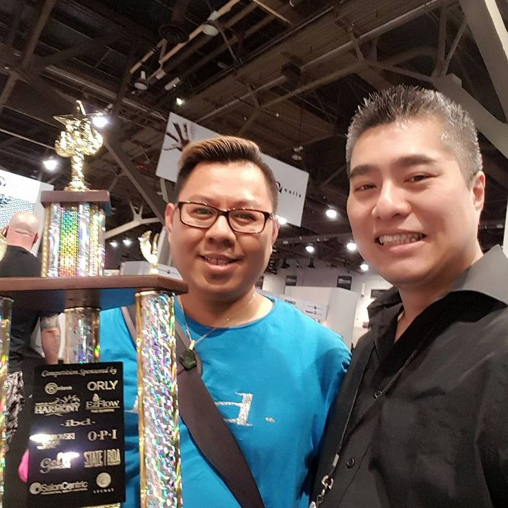 With Andy Ho at 2017 International Beauty Show in Vegas. IMPULSE NAIL STUDIO by ANDY, San Diego, CA. Instagram@andyhaidinh. Online booking at StyleSeat.com/andyhaidinh  #thenailprince #andyhaidinh #nailartist #nails #acrylicnails #gelnails #nailart #nailsmagazine #VIETsalon #nailpromagazine #Aiibeauty #AiiEducator #EZFlow #IBD #ChinaGlaze #VietNAILunited #naildesigns #nailgasm #nailswag #nailpromote #instanails #nailsoftheday #ImpulseNailStudiobyAndy #SanDiegonailsalons #SDnails #SolaSalons